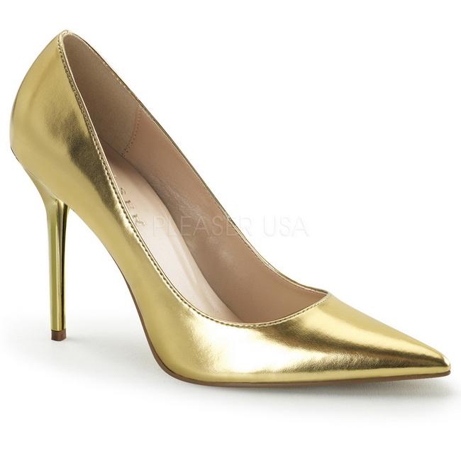 CLASSIQUE-20 zapatos de salón oro talla 41 - 42